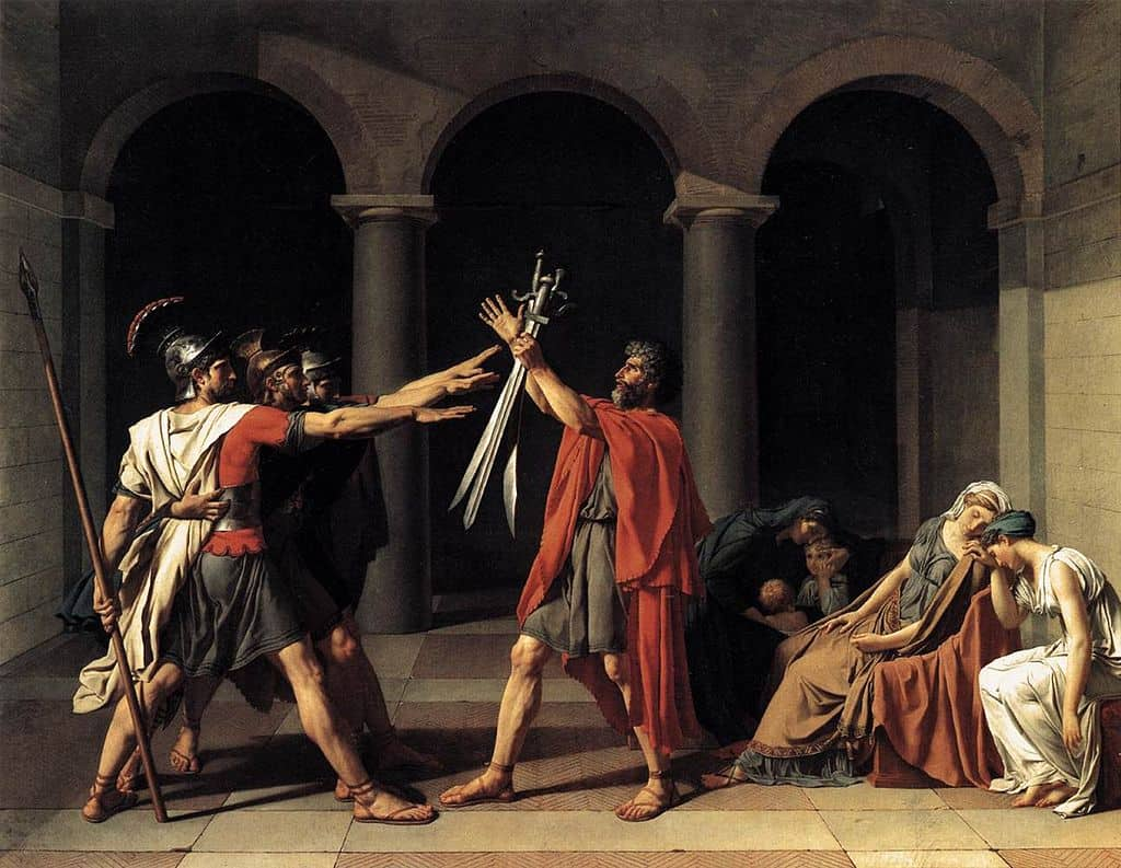 Jacques Louis David El Juramento De Los Horacios