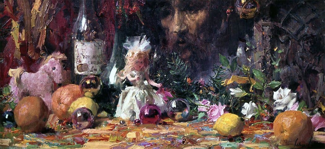 A Christmas Still Life Richard Schmid