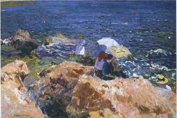 Joaquin Sorolla On The Rocks At Javea