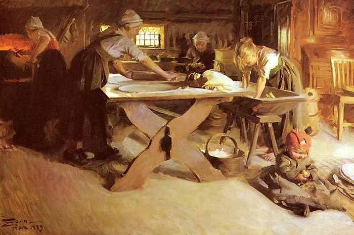 Anders Zorn Bread Baking 1889