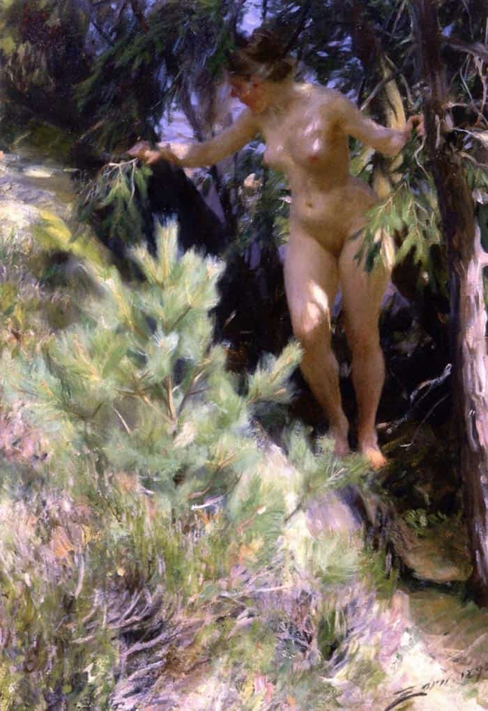 Anders Zorn Nude Under A Fir 1892