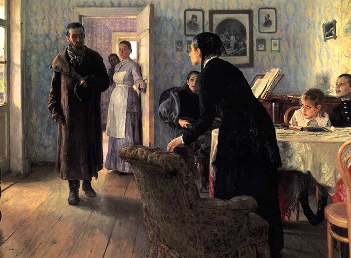 Ilya Repin Unexpected Visitors 1884 1888