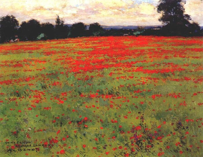 William Wendt Red Poppies