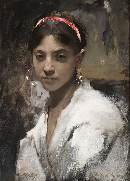 John Singer Sargent Head Of A Capri Girl